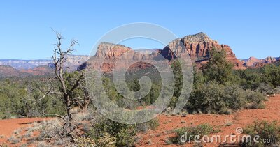 Fay Trail view in Sedona, United States 4K. A Fay Trail view in Sedona, United States 4K stock video