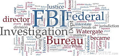 FBI word cloud Editorial Photography