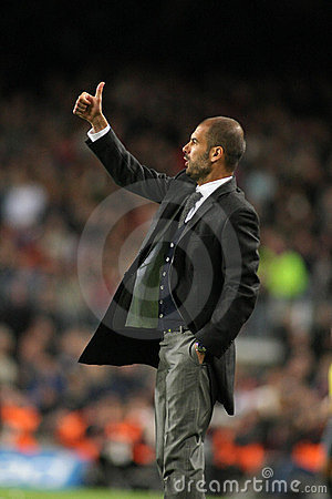 FC Barcelona coach Josep Guardiola Editorial Photography