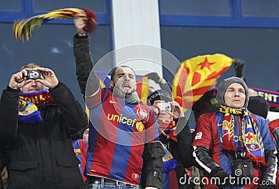 FC Barcelona fans Editorial Photo