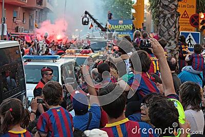 FC Barcelona league champions Editorial Image