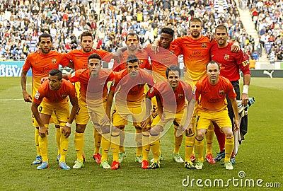 FC Barcelona lineup Editorial Image