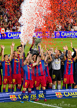 FC Barcelona: Spanish League Champion Editorial Photo