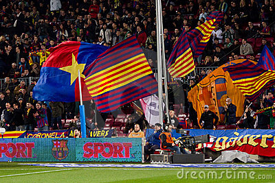 FC Barcelona supporters Editorial Photo