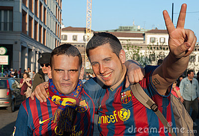 FC Barcelona supporters Editorial Stock Image