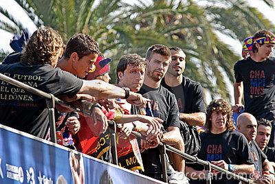 FC Barcelona - UEFA Champions League Winner 2011 Editorial Photography