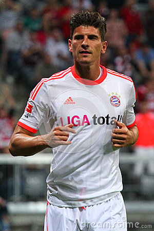 FC Bayerns Mario Gomez Editorial Stock Image