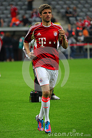 FC Bayerns Thomas Mueller Editorial Stock Image