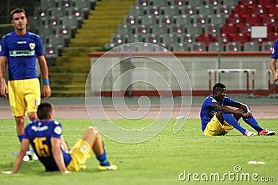 FC Dinamo Bucharest-FC Petrolul Ploiesti Editorial Stock Image