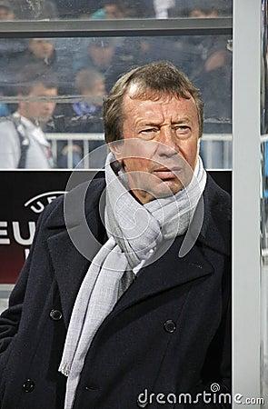 FC Dynamo Kyiv s manager Yuri Semin Editorial Stock Image