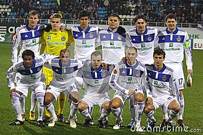 FC Dynamo Kyiv team Editorial Stock Image