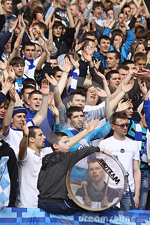 FC Dynamo Kyiv team supporters show their support Editorial Stock Photo