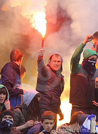 FC Dynamo Kyiv ultra supporters Editorial Photo
