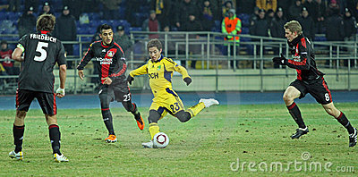 FC Metalist Kharkiv - Bayer 04 Leverkusen Editorial Stock Image