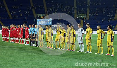 FC Metalist vs FC Illichivets soccer match Editorial Stock Image