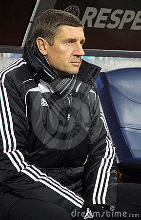 FC Sheriff Tiraspol coach Andrei Sosnitski Editorial Stock Image