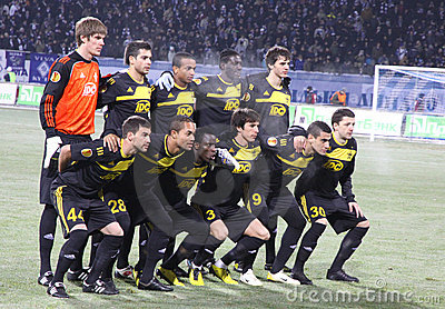 FC Sheriff Tiraspol team pose Editorial Stock Photo