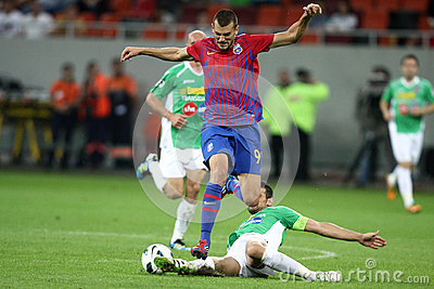 FC Steaua Bucharest - CFR Cluj Editorial Stock Image