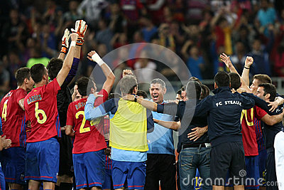 FC Steaua Bucharest - CFR Cluj Editorial Photo