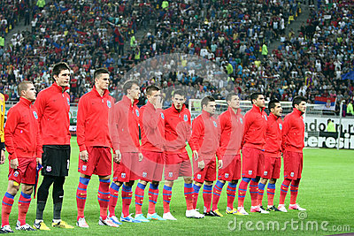 FC Steaua Bucharest - FC Copenhaga Editorial Photo