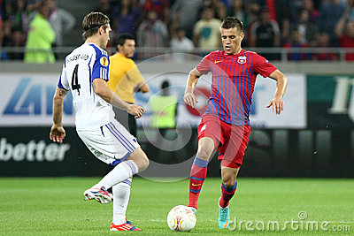 FC Steaua Bucharest - FC Copenhaga Editorial Stock Photo