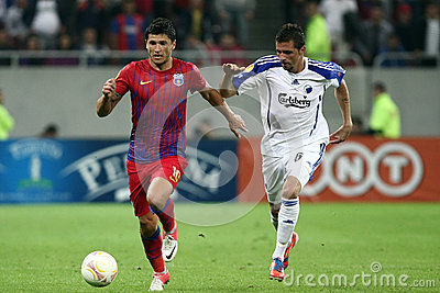 FC Steaua Bucharest - FC Copenhaga Editorial Stock Photo