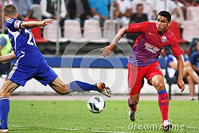 FC Steaua Bucharest - FC Ekranas Editorial Photo