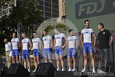 FDJ Professional Cycling Team Editorial Stock Image