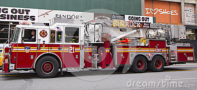 FDNY Ladder Company 21 in midtown Manhattan Editorial Stock Photo