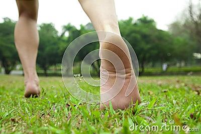Füße des Mannes