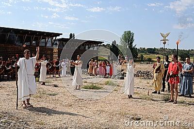 FEAST of BACCHUS .Burgos .SPAIN Editorial Stock Image