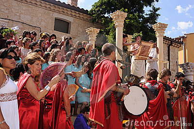 FEAST of BACCHUS .Burgos .SPAIN Editorial Photo
