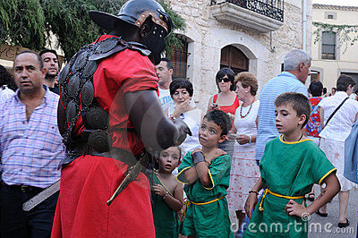 FEAST of BACCHUS .Burgos .SPAIN Editorial Stock Photo