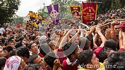 Feast of Black Nazarene in Manila, Philippines Editorial Photo