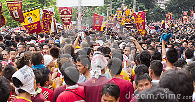 Feast of Black Nazarene in Manila, Philippines Editorial Photography