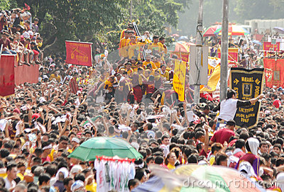 Feast of Black Nazareno, Philippines Editorial Stock Photo