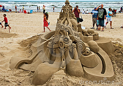 A feast on Sand Castle Day Editorial Stock Photo