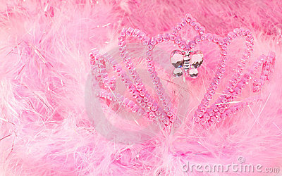Feather boa and tiara