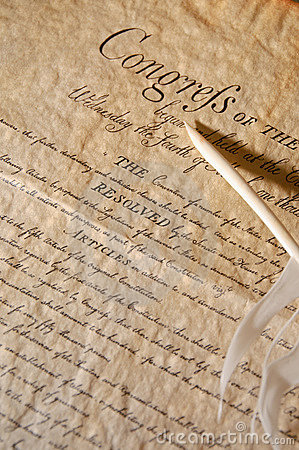 Feather with the declaration