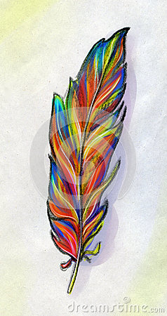 Feather of a fantasy bird