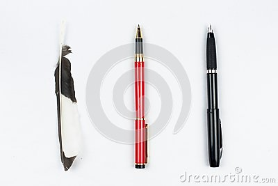 Feather pen ball pen and pen