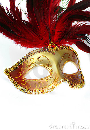 Free Feathered Fancy Dress Mask Stock Photography - 1989952