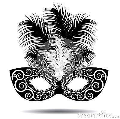 Free Feathered Mask Stock Photo - 38757290