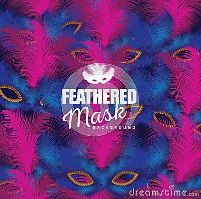 Free Feathered Mask Background Royalty Free Stock Photography - 48983757