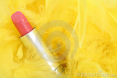 Feathers and  lipstick