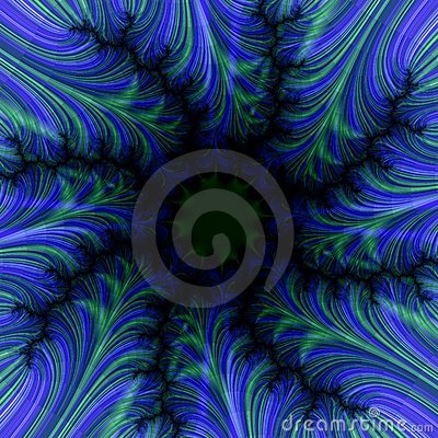 Feathery Blue Frame Background