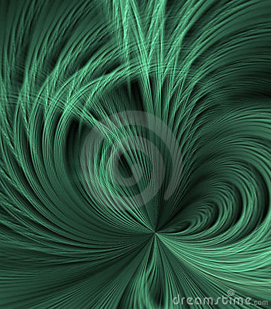 Feathery Green Abstract