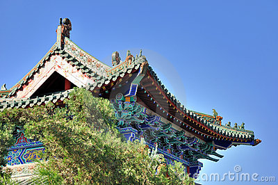 Featured eave of Chinese traditional architecture