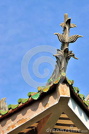 Featured eave of Chinese traditional building