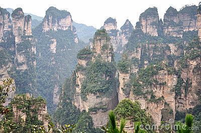 Featured mountain in Zhangjiajie,China